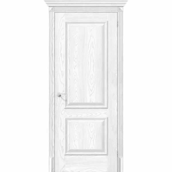 Дверь межкомнатная Классико-12 экошпон Silver Ash, глухое, 80 см.