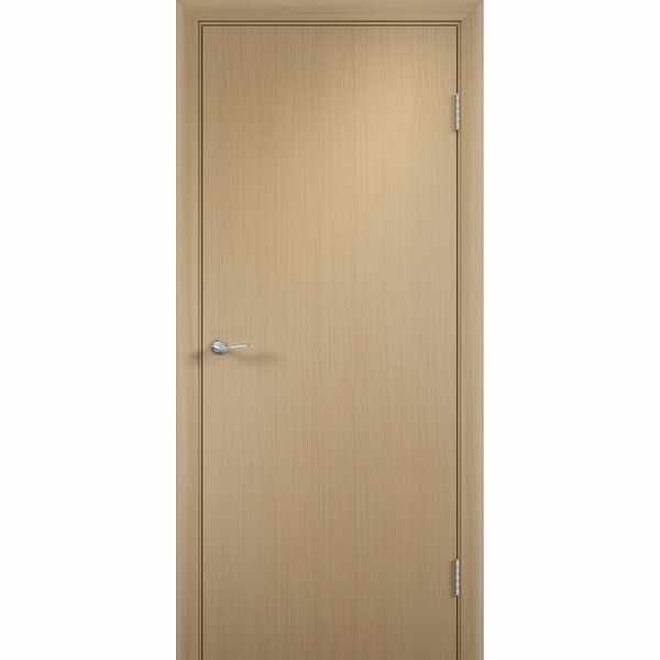Дверь межкомнатная Беленый дуб, глухое гладкое, 70 см.