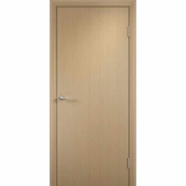 Дверь межкомнатная Беленый дуб, глухое гладкое, 80 см.