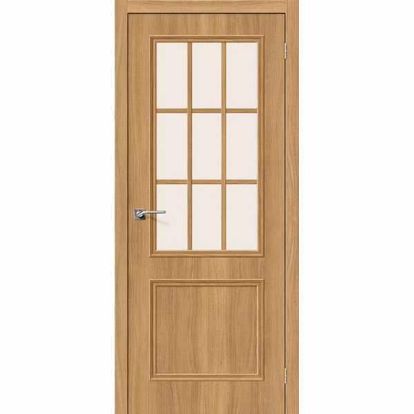 Дверь межкомнатная Симпл-13 экошпон Анегри вералинга, остекленное, 70 см.
