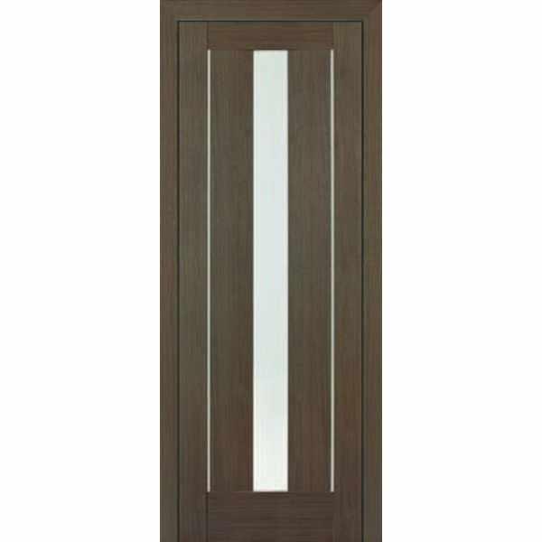 Дверь межкомнатная Маэстро экошпон Дуб дымчатый, остекленное, 60 см.