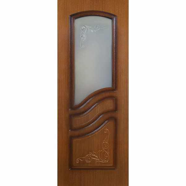 Дверь межкомнатная Турция шпон орех, остекленное, 80 см.