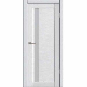 Дверь межкомнатная Астерия 01 Бьянки экошпон, остекленное - лакобель белый, 80 см.