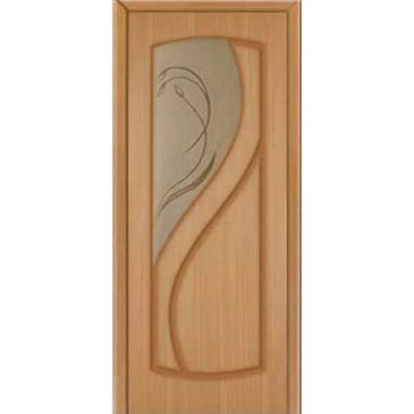 Дверь межкомнатная Венера шпон дуба, остекленное, 70 см.