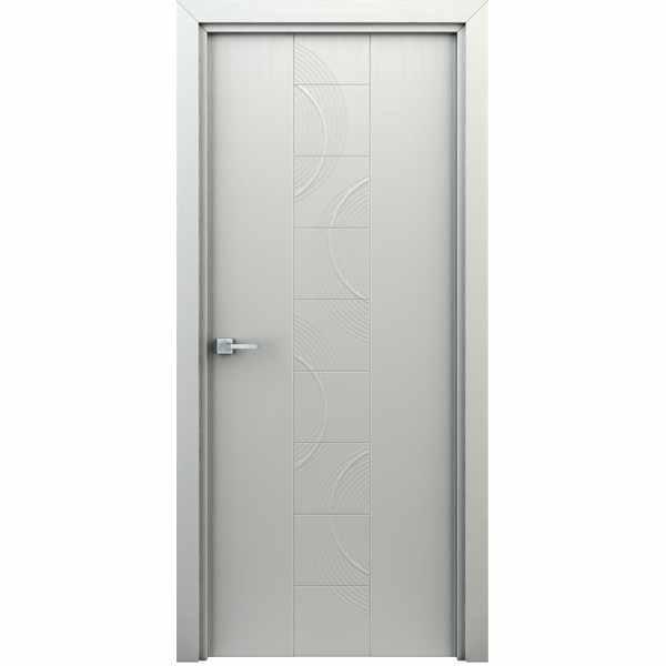 Дверь межкомнатная Сатурн Белый, глухое, 70 см.