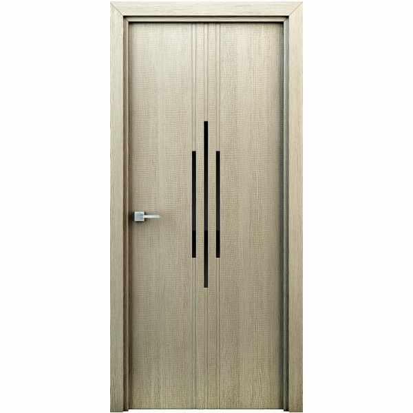 Дверь межкомнатная Сафари Капучино, с декоративными элементами, 60 см.