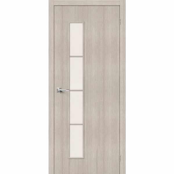 Дверь межкомнатная Тренд-4 Капучино, остекленное, 60 см.