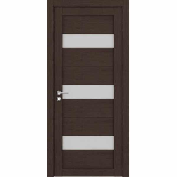 Дверь межкомнатная 2120 пленка ПВХ Велюр шоколад, остекленное, 60 см.