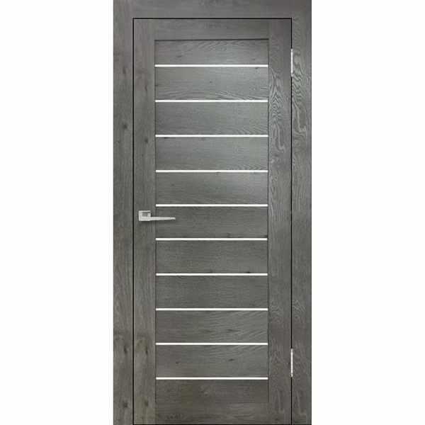 Дверь межкомнатная Бавария-04 Дуб эдисон серый, остекленное, 70 см.