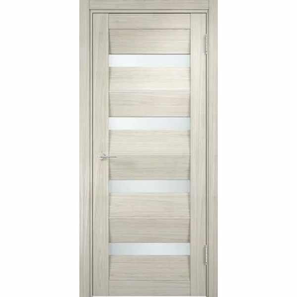 Дверь межкомнатная Сицилия экошпон Беленый дуб, остекленное, 70 см.