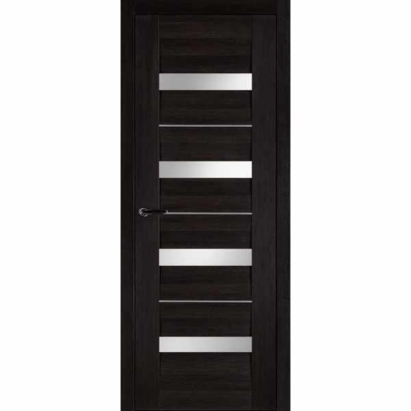 Дверь межкомнатная Сицилия экошпон Венге, остекленное, 70 см.