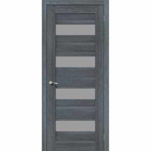Дверь межкомнатная MG4 AG EGO Экошпон, остекленное - серое сатинато, 60 см.