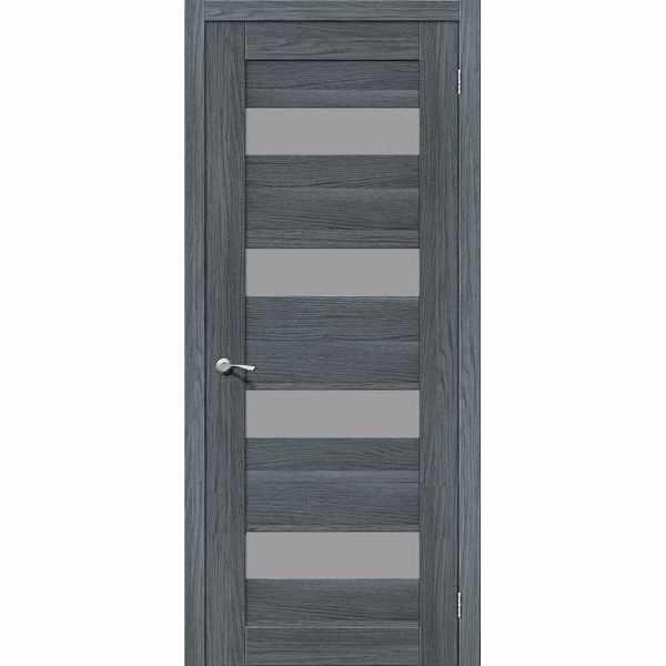 Дверь межкомнатная MG4 AG EGO Экошпон, остекленное - серое сатинато, 70 см.