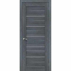 Дверь межкомнатная VP5 AG EGO Экошпон, остекленное - серое сатинато, 60 см.