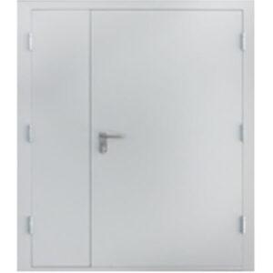 Дверь Марс 1350х2050 мм., толщина полотна 50 мм., внешняя отделка оцинкованный лист 1 мм.