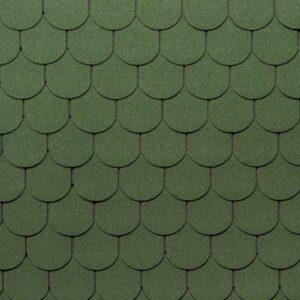 Гибкая черепица Tegola Nordland Антик зеленый