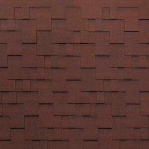 Гибкая черепица Tegola Nobil Tile Акцент темно-красный