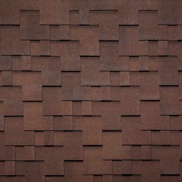 Гибкая черепица Tegola Nobil Tile Акцент красно-коричневый