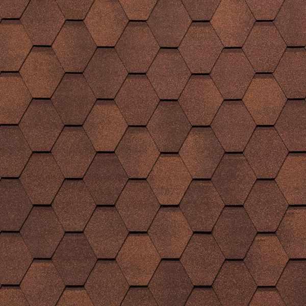 Гибкая черепица Tegola Nobil Tile Вест красно-коричневый
