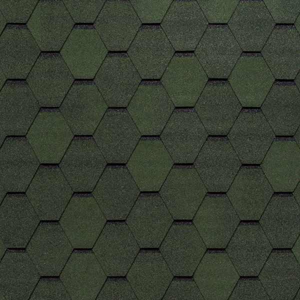 Гибкая черепица Tegola Top Shingle Смальто зеленый