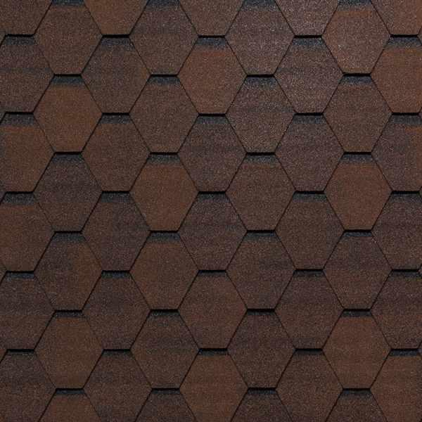 Гибкая черепица Tegola Top Shingle Смальто коричневый