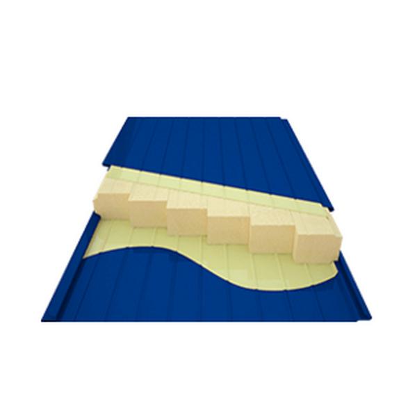 Панель стеновая (минеральная базальтовая вата НГ плотность низкая), ширина 960 мм., длина панели 0,5-12 м, толщина 75 мм.